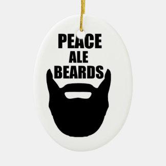 Peace Ale Beards Ceramic Ornament