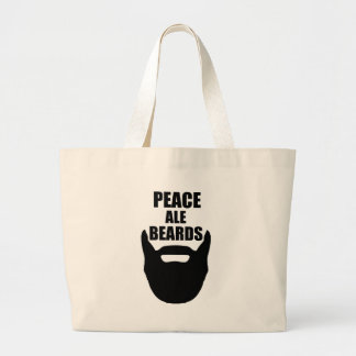 Peace Ale Beards Large Tote Bag
