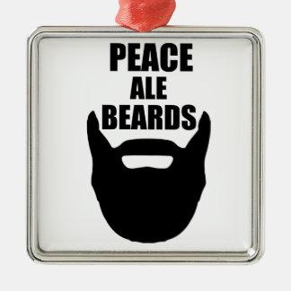 Peace Ale Beards Metal Ornament