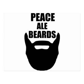 Peace Ale Beards Postcard