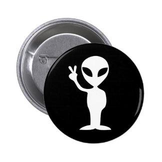 Peace Alien 2 Inch Round Button