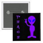 Peace Alien 2 Inch Square Button