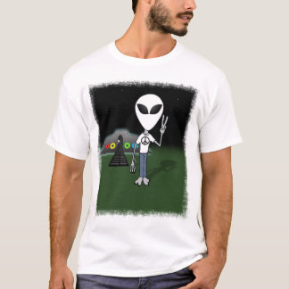 Peace Alien (Customize with your Pic) T-Shirt