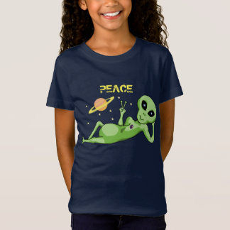 Peace Alien Girls' Fine Jersey T-Shirt
