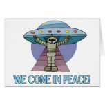 Peace Alien Greeting Card