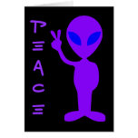 Peace Alien Greeting Card