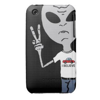Peace Alien iPhone 3 Case-Mate Case