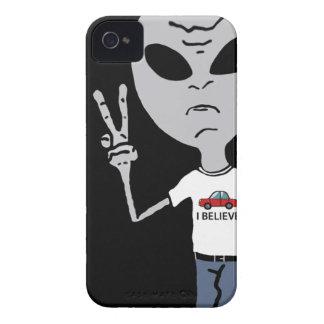 Peace Alien iPhone 4 Case-Mate Case