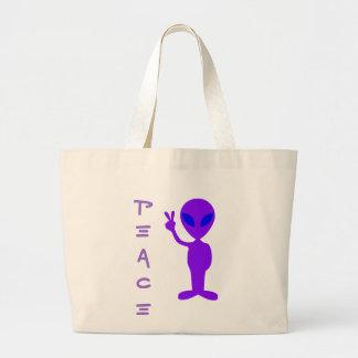 Peace Alien Jumbo Tote Bag