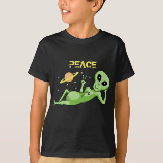 Peace Alien Kids' Hanes TAGLESS® T-Shirt