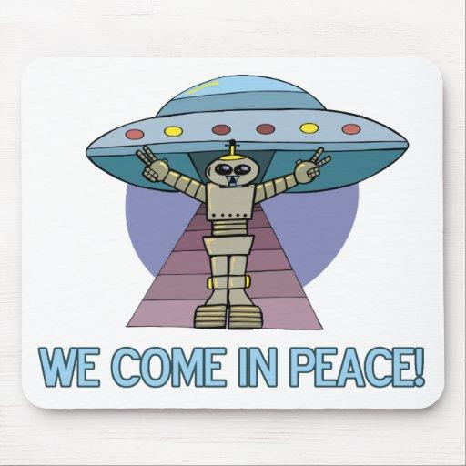 Peace Alien Mouse Pads