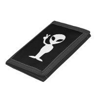Peace Alien Tri-fold Wallets