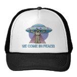 Peace Alien Trucker Hat