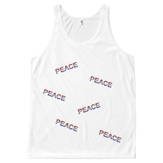 Peace All-Over Print Tank Top