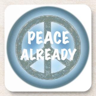 Peace Already Drink Coaster