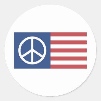 Peace:America Classic Round Sticker