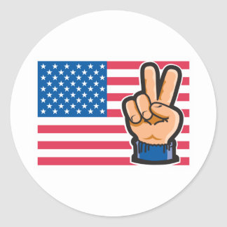 Peace American Flag Design Stickers