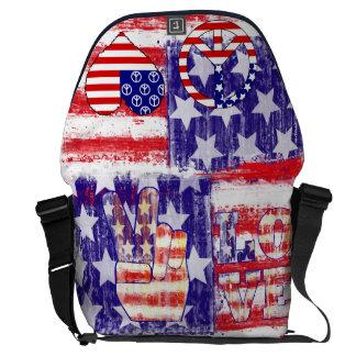 peace,american flag,united states flag messenger bag