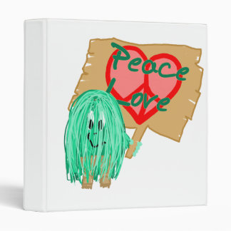 Peace an love - heart shaped peace sign 3 ring binders