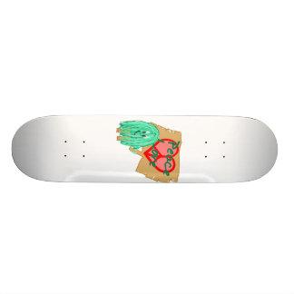 Peace an love - heart shaped peace sign skateboard