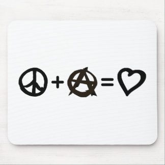 Peace + Anarchy = Love Mouse Pad