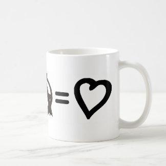 Peace + Anarchy = Love Coffee Mugs