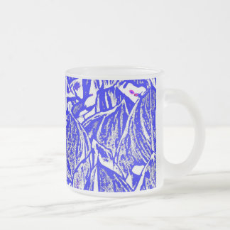 Peace and action Frosted 10 oz Frosted Glass Mug