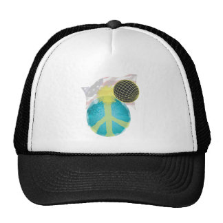 Peace and America Trucker Hat