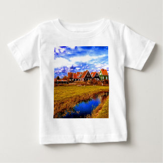 peace and beauty   netherlands houses stream water shirt