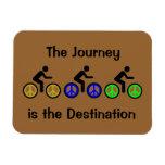 peace and biking rectangular magnet