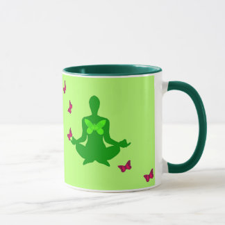 Peace and Butterfly - Yoga Mugs