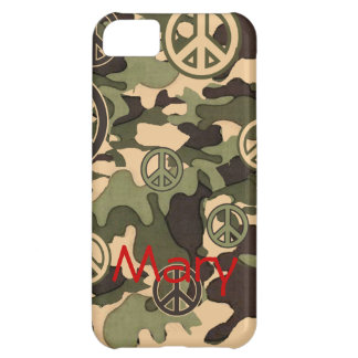 Peace and Camouflage iPhone 5C Cases