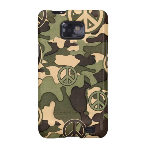 Peace and Camouflage Galaxy SII Cover