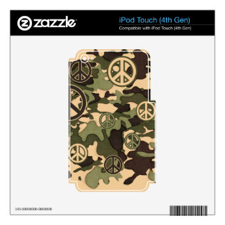 Peace and Camouflage iPod Touch 4G Decal