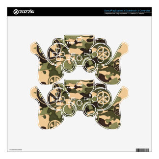 Peace and Camouflage PS3 Controller Decals
