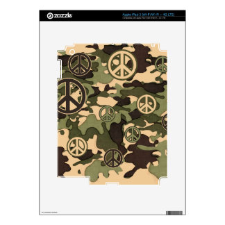 Peace and Camouflage Skin For iPad 3