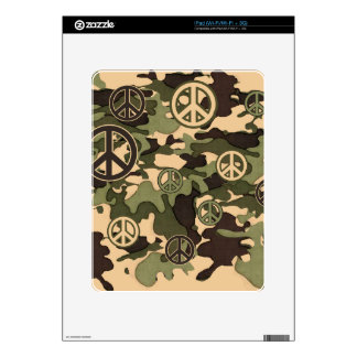 Peace and Camouflage Decals For iPad