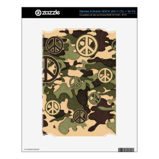 Peace and Camouflage Skins For NOOK