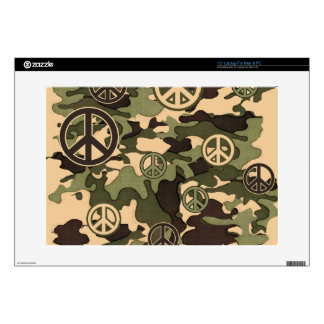 Peace and Camouflage Decal For Laptop