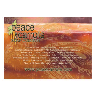 Peace and Carrots Soap Company Business Card