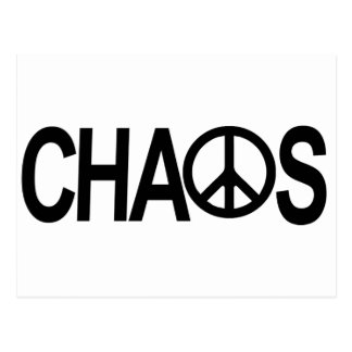 Peace and Chaos Postcard