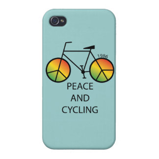 Peace and Cycling Message iPhone 4 Case