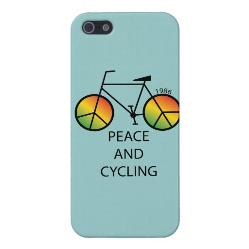 Peace and Cycling Message iPhone 5 Case