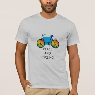Peace and Cycling Message T-shirt