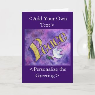 Peace and Dove Art Greeting Card
