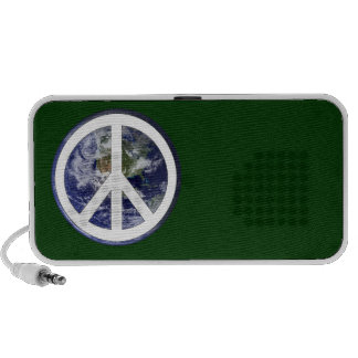 Peace and Earth Doodle Travel Speaker