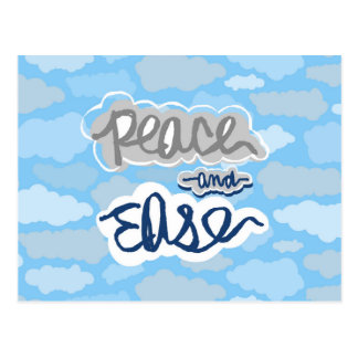 Peace and Ease Calming Clouds Postcard