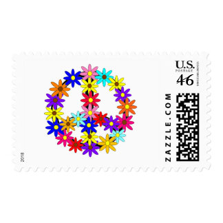 Peace and Flower Power Stamp