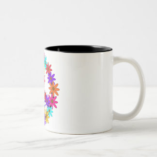 Peace and Flower Power Two-Tone Coffee Mug