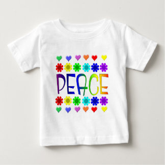 Peace and Flowers Baby T-Shirt